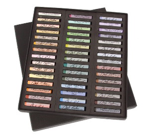 Richeson Medium-Soft Pastels Set of 45 Full Sticks - Color Landscape