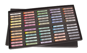 Richeson Medium-Soft Pastels Set of 60 Full Sticks - Color Assorted