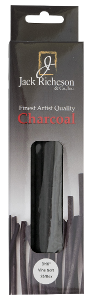 Richeson Natural Vine Charcoal Box of 25 - Thin Soft - Size 3/16