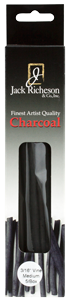 Richeson Natural Vine Charcoal Box of 5 - Regular Medium - Size 3/16