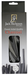 Richeson Natural Vine Charcoal Box of 50 - Thin Medium - Size 3/16