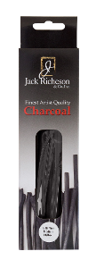Richeson Natural Vine Charcoal Box of 24 - Thin Medium - Size 3/16