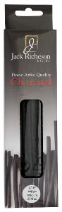 Richeson Natural Willow Charcoal Box of 25 - Medium Soft - Size 3/16