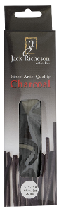 Richeson Natural Willow Charcoal Box of 30 Assorted Soft