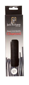 Richeson Natural Willow Charcoal Box of 4 - Jumbo Soft - Size 1/2