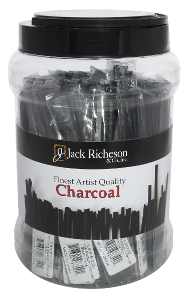 Richeson Vine Charcoal Canister, 48 Bags of 3 - Medium - Size 3/16