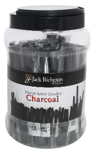 Richeson Vine Charcoal Canister, 48 Bags of 3 - Hard - Size 3/16