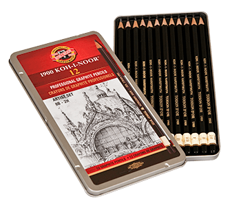 Koh-I-Noor Toison dOr Graphite Pencil Artists Set of 12 8B - 2H