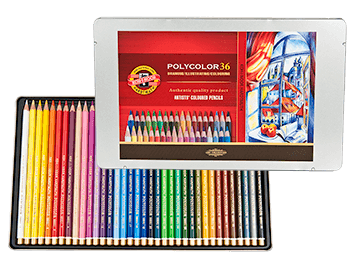 Koh-I-Noor Polycolor Colored Pencil Tin Set of 36