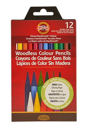 Koh-I-Noor Progresso Woodless Pencil Set of 12