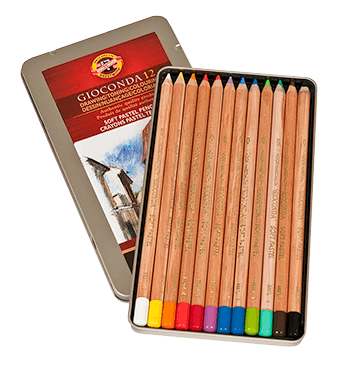 Koh-I-Noor Gioconda Soft Pastel Pencil Tin Set of 12