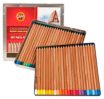 Koh-I-Noor Gioconda Soft Pastel Pencil Tin Set of 48