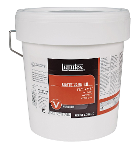 Liquitex Acrylic Matte Permanent Varnish - Size 128 oz.