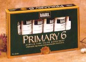 Liquitex Acrylic Primary Set of 6 Tubes - Color Assorted - Size .75 oz.