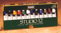 Liquitex Acrylic Studio Set of 12 Tubes - Color Assorted