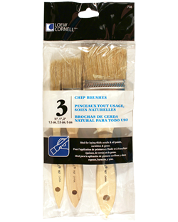 Loew Cornell Chip Brush Set (3 Pieces)