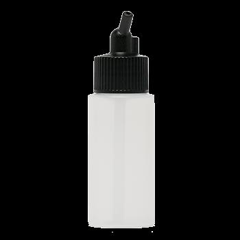Iwata Big Mouth Airbrush Bottle 1 oz / 30 ml Cylinder With 20 mm Adaptor Cap