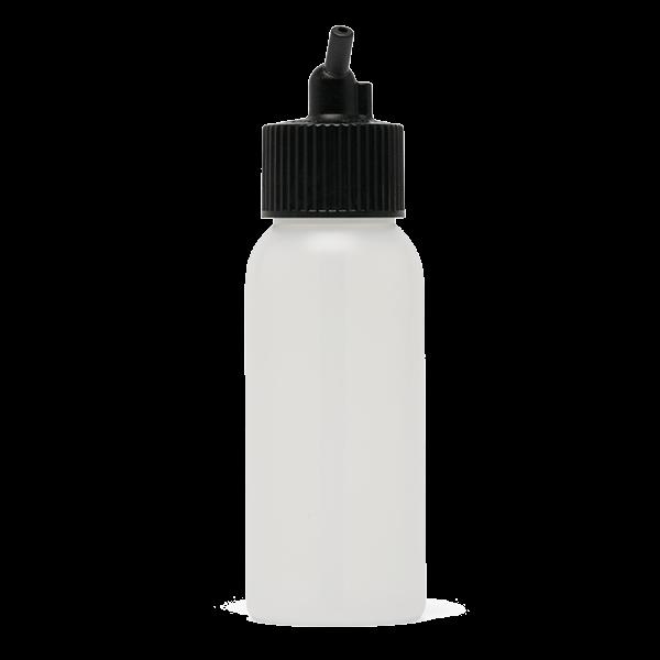 Iwata Big Mouth Airbrush Bottle 2 oz / 60 ml Cylinder With 24 mm Adaptor Cap