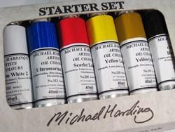 Michael Harding Handmade Artists Oil Introductory Set of 6