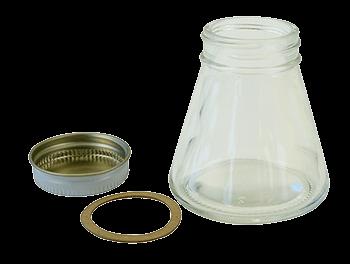 Paasche Plain Jar, Cover & Gasket - Size 3 oz.
