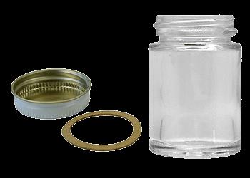 Paasche Plain Jar, Cover & Gasket - Size 1 oz.