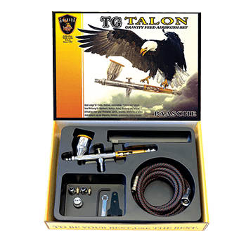 Paasche Talon Airbrush with All Three Heads and Fan Aircap