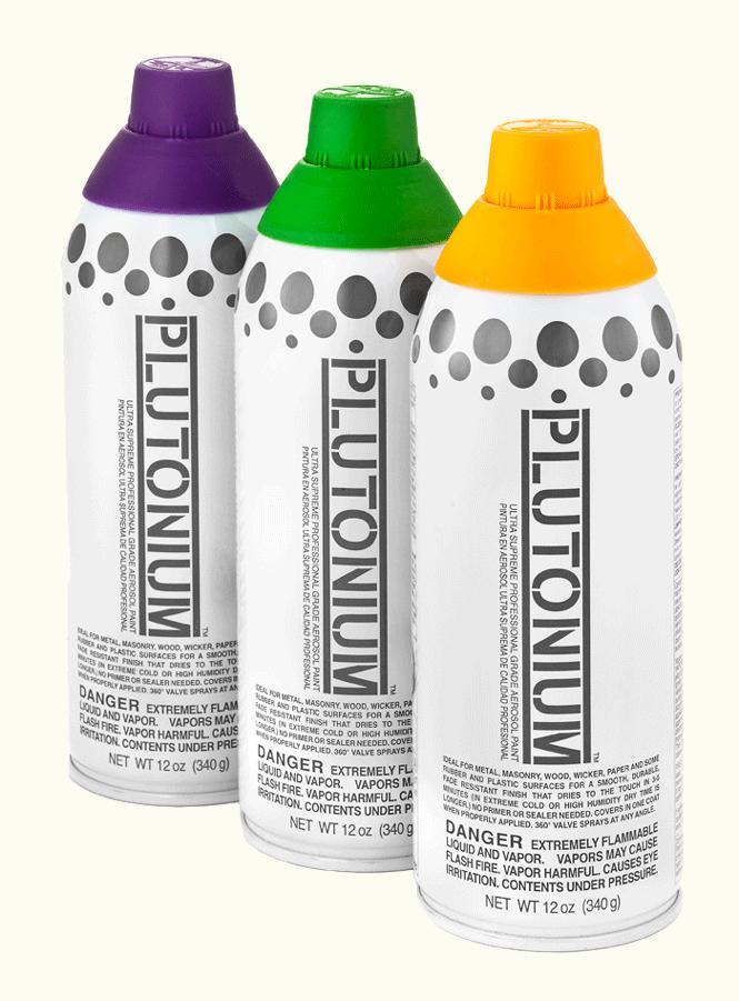 Plutonium spray paints rex art supplies Spray paint supplies