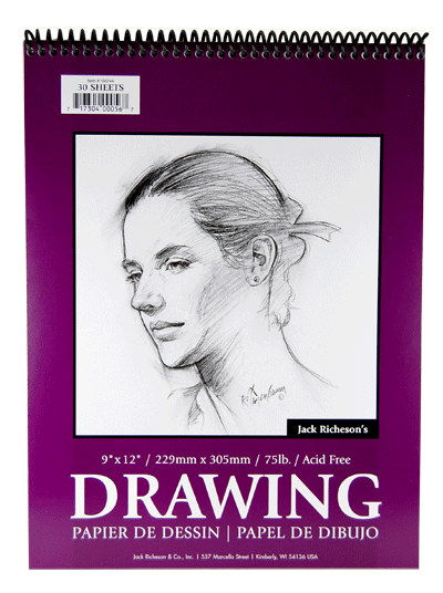 Richeson Drawing Pad, Spiral Bound, 30 Sheets - Size 4 x 6