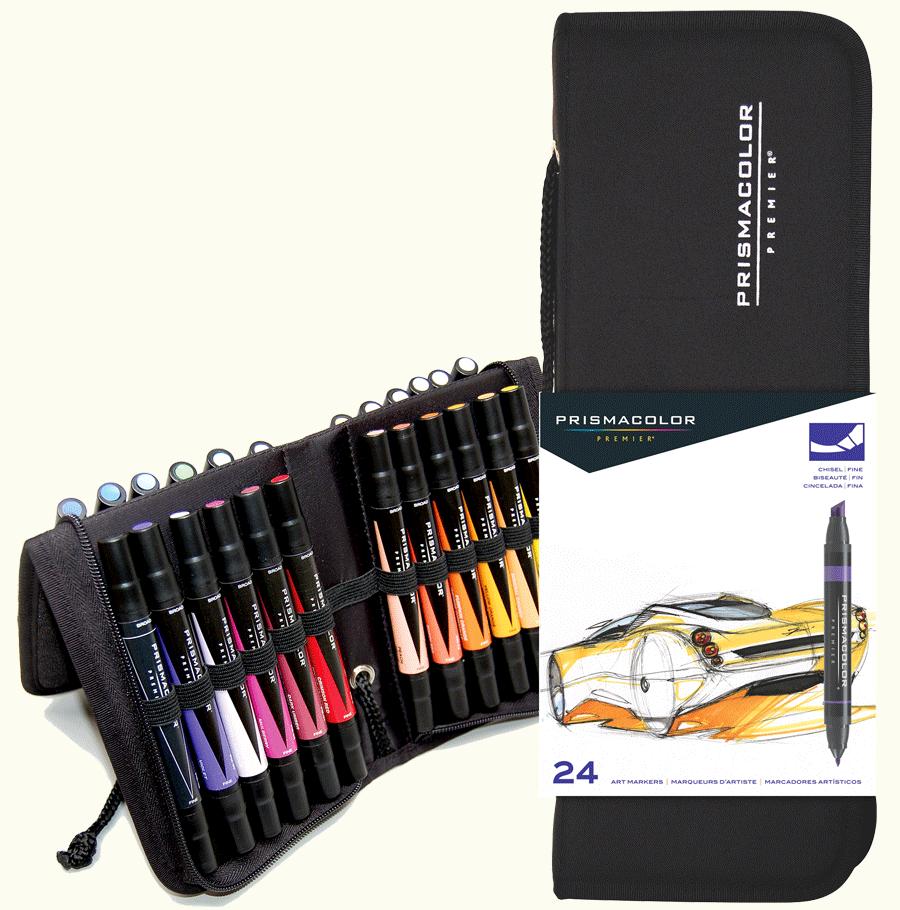 Prismacolor Art Marker Set Of 24 With Case Rex Art Supplies