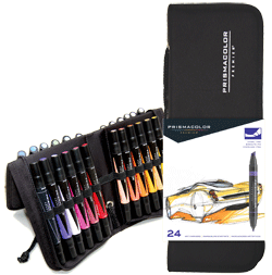 Prismacolor Art Marker Set of 24 with Case
