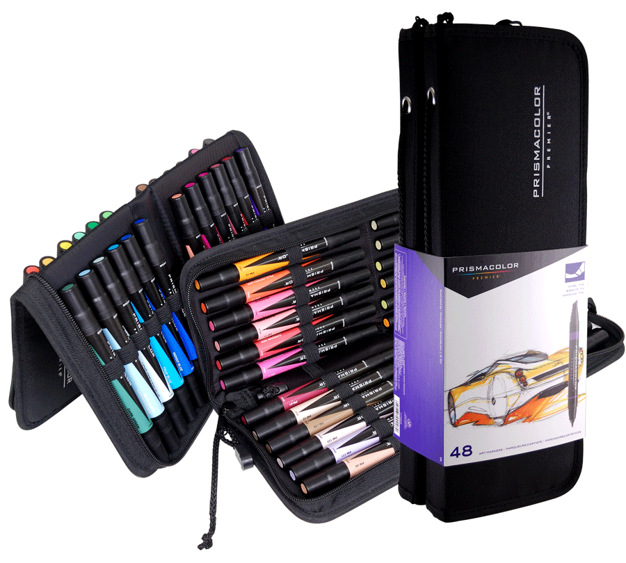 Prismacolor Art Marker Set Of 48 With Case Rex Art Supplies