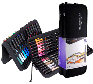 Prismacolor Art Marker Set of 48 with Case