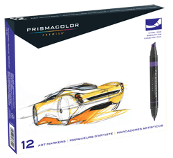 Prismacolor Art Marker Set of 12 - Color Primary & Secondary