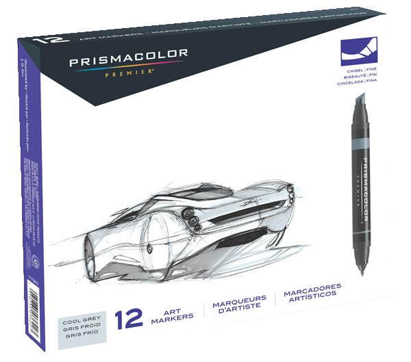 Prismacolor Art Marker Set of 12 - Color Cool Greys