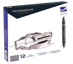 Prismacolor Art Marker Set of 12 - Color Warm Greys
