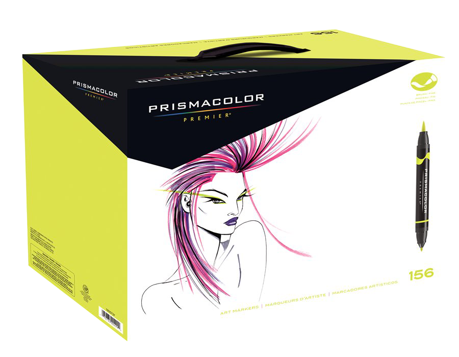 Prismacolor Premier Brush Marker Set Of 156 Rex Art Supplies