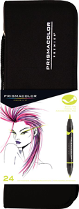 Prismacolor Premier Brush Marker Set of 24 with Case