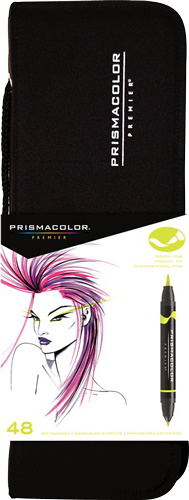 Prismacolor Premier Brush Marker Set of 48 with Case