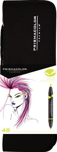 Prismacolor Premier Brush Marker Set of 48 with Case
