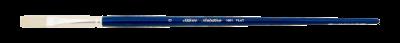 Silver Brush Bristlon, Long Handle, Flat - Size 6