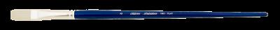 Silver Brush Bristlon, Long Handle, Flat - Size 8