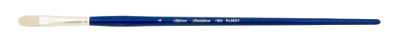Silver Brush Bristlon, Long Handle, Filbert - Size 4
