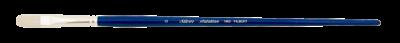 Silver Brush Bristlon, Long Handle, Filbert - Size 6