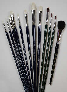 Silver Brush Bart Lindstrom, Long Handle Adagio Portrait Set of 12
