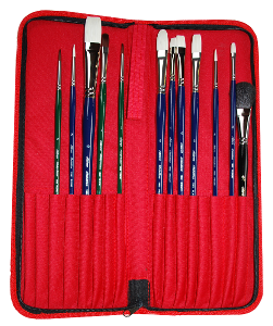 Silver Brush Bart Lindstrom, Long Handle Arabesque Still Life Set of 13