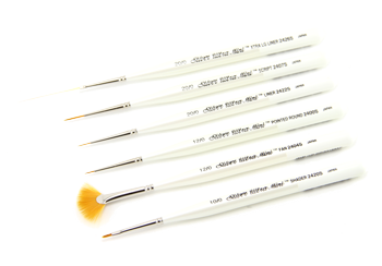 Silver Brush Ultra Mini Set of 6 Liners - Short Handles