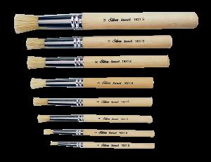 Silver Brush Stencil Brush Set of 8