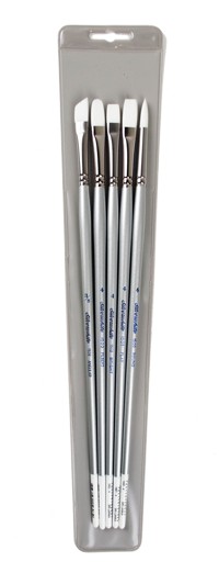 Silver Brush Silverwhite Brush Set of 5 - Long Handles