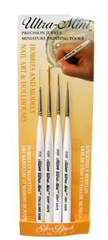 Silver Brush Ultra Mini Detail Brush Set of 4 - Short Handles