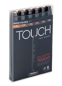 ShinHan Touch Twin Marker Set of 6 Woods
